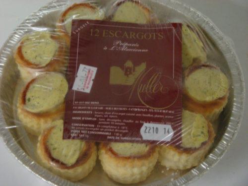 MINI BOUCHEES D'ESCARGOTS FRAIS