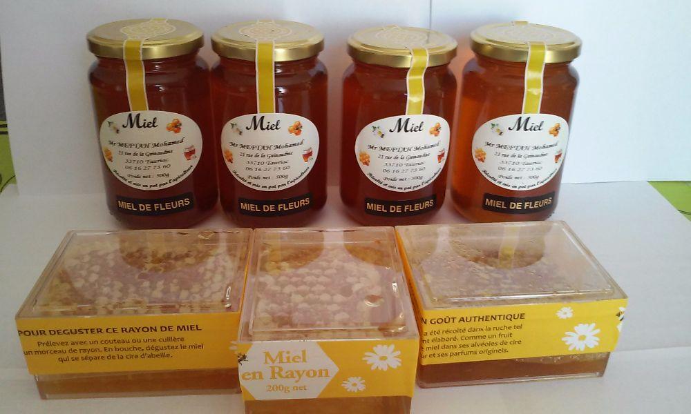 miel et miel en rayon