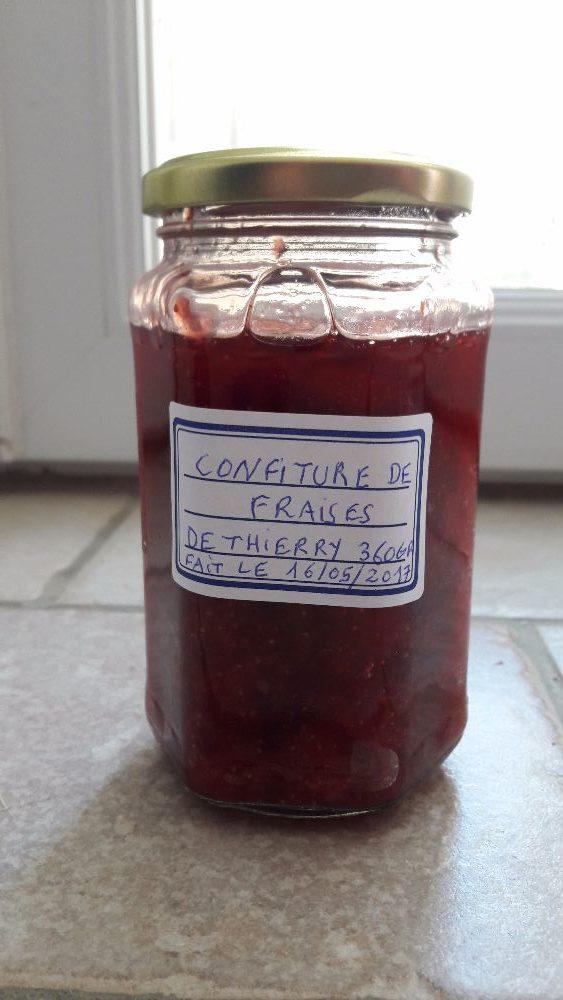 Pots de confitures de fraises 360gr sans produit chimique