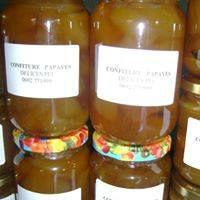 Confiture papayes en bocaux ou barquettes (tranches)