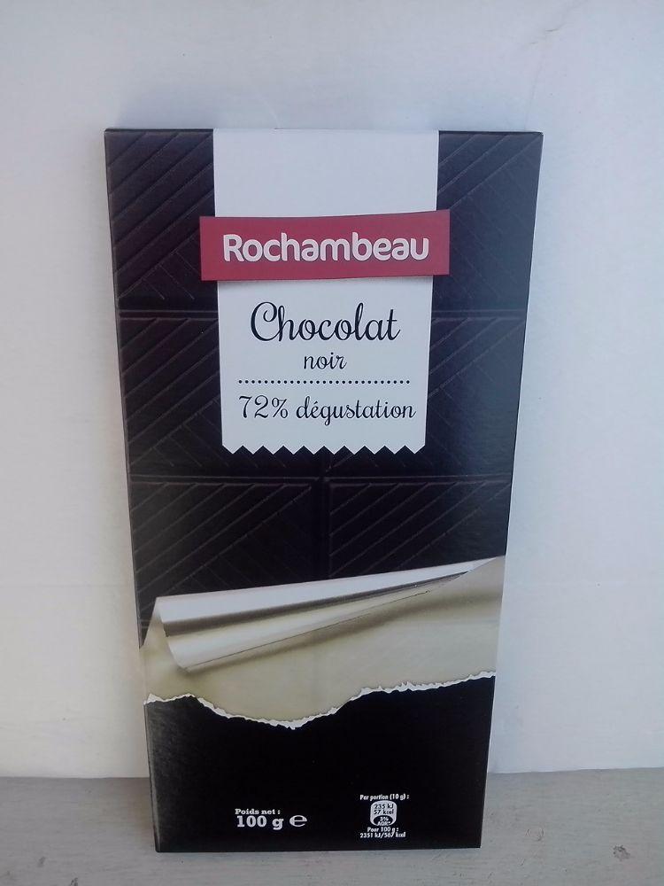 Chocolat noir de dégustation 72 % tablette de 100 gr