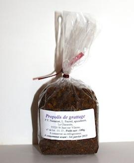 Propolis brute de grattage (100 grammes)