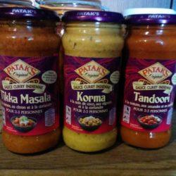 Sauces pour cuisine indienne et pâte de curry